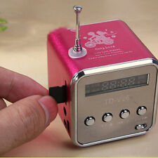 Rose Red Stereo Portable Mini Speaker Micro SD TF USB Radio Speaker FM PC Player