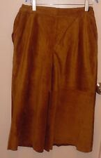 West Bay Sport Leathers Brown Pig Suede Leather Long Skirt Size 16W