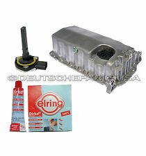 VW Beetle Golf Jetta 2.0 1.9 TDI Engine Oil Pan +Oil Level Sensor + Sealant Tube