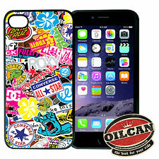 Skateboard Sticker Bombing Iphone compatible cover, fits Iphone 4s / 4 i phone