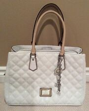 Guess New Without Tags White/Beige Womans Purse/Handbag Super Stylish