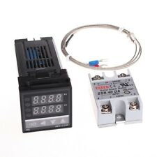 100-240v PID Digital Temperature Control Controller + SSR + K Thermocouple Probe