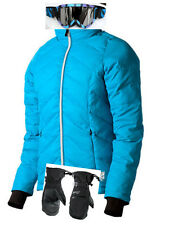$530 Gerbing Womens Blue Heated Jacket Ladies Coat + Scott Ski Goggles + Gloves!