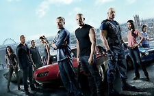 FAST AND FURIOUS 6 CAST A3 POSTER PRINT ART - BUY 2 GET 1 FREE!