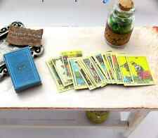 TAROT CARDS WITH BOX in 1:6 Scale Miniature For Dollhouse Roombox Or Diorama