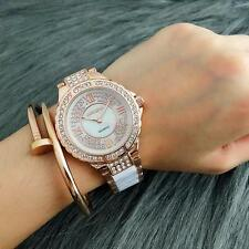 Luxury Fashion Gold Watches Women Rhinestone Geneva Quartz Wrist Watch Analog