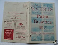 Travel Brochure For The Palm Beaches, Florida Where To Buy,Go & Do 1944