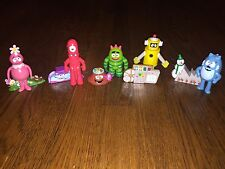 "HTF Yo Gabba Gabba 3"" Figures (5) + (5) Accessories Complete Set"