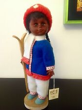 Canadian Indian Eskimo Doll with Skis - 12""
