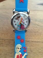New - Frozen Childrens Watch With 3d Strap (Blue)