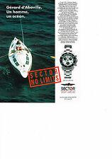 PUBLICITE ADVERTISING  1992   SECTOR  collection montre  GERARD D'ABOVILLE