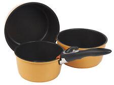 Grunwerg Versa 3PZ Saucepan ANTIADERENTE impilamento Pot Pan Set ELETTRICO FORNELLI GAS
