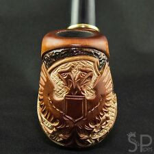 "Carved tobacco smoking pipe *Russian eagle* | pipes - 6.1"" (15,5cm)"