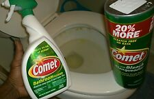 (Comet Cleaning Supplies) Bathroom Cleaner Spray And +20% Bleach Dutch Cleanser