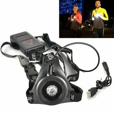 Rechargeable XPE LED Headlamp 3 Mode Running Chest Light Head Torch Warning Lamp