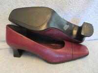 Womens Shoes EASY SPIRIT PAIRIE Size 8 1/2 B 2A BURGUNDY CAREER PUMP EXC