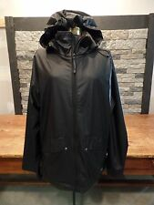 Helly Hansen HH Raincoat Hooded Black Polyurethane Lightweight Breathable Small
