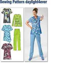 Women Scrubs Top Pants Sewing Pattern 6473 McCall's NEW Size 8-16 q