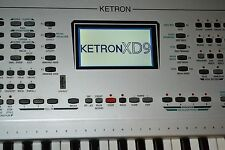 Ketron XD9 61 key keyboard. Good condition with soft case (stagg ktc 128 )