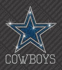 NFL - Dallas Cowboys - Bling - Iron-on Rhinestone Transfer Decal