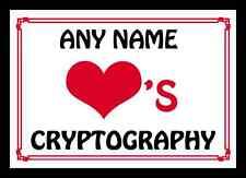 Amor Corazón criptografía Personalizados Mantel Individual