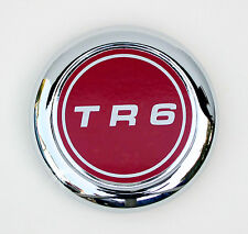 Triumph TR6 Chrome Hubcap / Wheel Badge, Triumph part; 627502