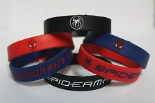 SPIDERMAN Silicone PARTY FAVOR Bracelet FILLER BLUE BLACK RED