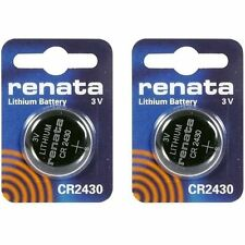New 2-Pack Renata CR2430 3V Coin Cell Lithium Battery for Timex WS4 Swiss Made