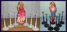 12 Kaiser Doll Stands 6 BLACK & 6 WHITE fits BARBIE & Monster High