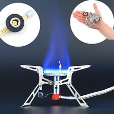 Portable Mini Backpack Outdoor Gas Butane Propane Canister Camp Stove Burner E1