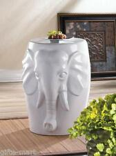 L white Elephant statue ceramic outdoor furniture garden stool end table stand