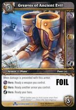 WORLD OF WARCRAFT WOW TCG PROMO FOIL : GREAVES OF ANCIENT EVIL X 4