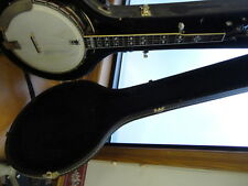 Gold Star Hearts and Flowers (?) 5 String Banjo with Hard Case NO RES FREE SHIP!