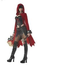 Ladies Sexy Lil Dead Red Riding Hood fancy Dress Halloween Costume.