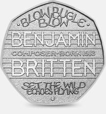 Rare 50p coin 2013 benjamin britten cinquante pence 2013 coup bugle coup coin chasse