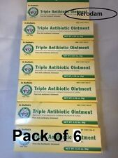 6x Triple Antibiotic ointment cream First Aid for cuts scrapes burns infection