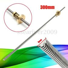 300mm T8 8mm Lead Screw Anti-Backlash Nut 3D Printer Z Axis Trapezoidal Acme Rod