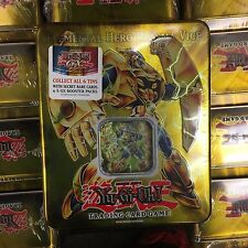 YuGiOh 2007 Collectors Tin Factory Sealed Elemental Hero Plasma Vice 5 Booster