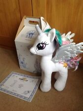 Bnwt Nuovo Con Scatola Build a Bear PRINCESS CELESTIA My Little Pony SCATOLA & CERTIFICATO