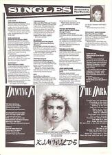 KIM WILDE 'Dancing In Dark' lyrics magazine PHOTO / Pin UP/Poster 8x6 inches