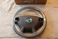 NOS 2000 2002 MERCURY SABLE LEATHER WRAPPED STEERING WHEEL MEDIUM PARCHMENT
