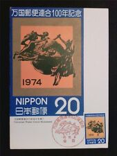JAPAN MK 1974 NIPPON UPU MAXIMUMKARTE CARTE MAXIMUM CARD MC CM c7742