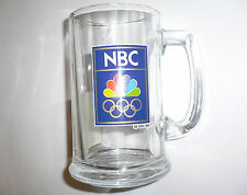 1992 Olympic Games Barcelona OFFICIAL LICENSED PRODUCT NBC Beer Glass with Logo
