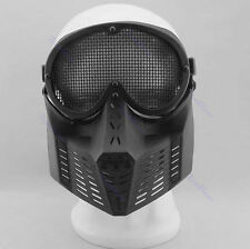 Gear Hunting Biker Airsoft Games Full Face Eyes Protector Safety Guard Mesh Mask