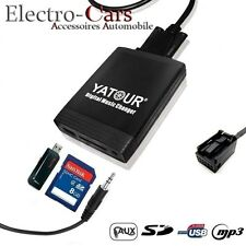 INTERFACE USB AUDIO MP3 SD ADAPTATEUR AUTORADIO COMPATIBLE PEUGEOT 207