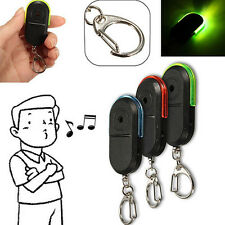 Useful Wireless Whistle Voice Control Keychains LED Anti-Lost Key Finder Alarm