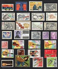 MUSIC Thematic Stamp Collection USED Ref:TS79