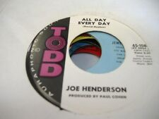 Soul 45 JOE HENDERSON All Day Every Day on Todd