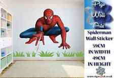 Spiderman Pared Arte Adhesivo Super Héroe Para Niños Decoración de la Sala Grande
