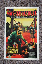 The Masked Marvel Lobby Card Movie Poster The Masked Crusader